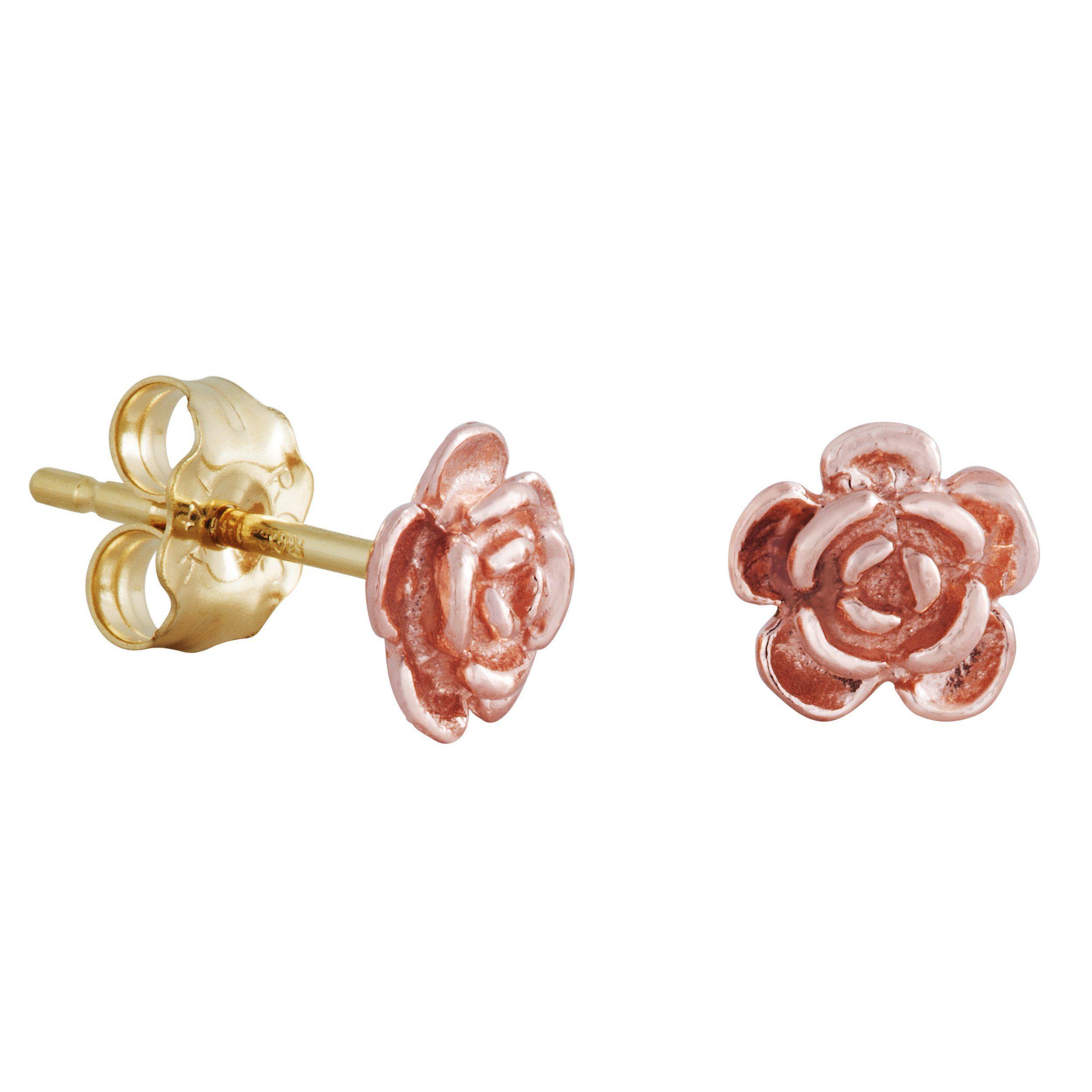 c2bd54bd1 Landstrom's Black Hills Gold Rose Earrings - Studs - Posts - 10K Roses, 14K  Posts & Backs - Handmade - GLA193P