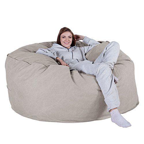 Lounge Pug Chunky Denim Cloudsac Huge Memory Foam Giant Bean