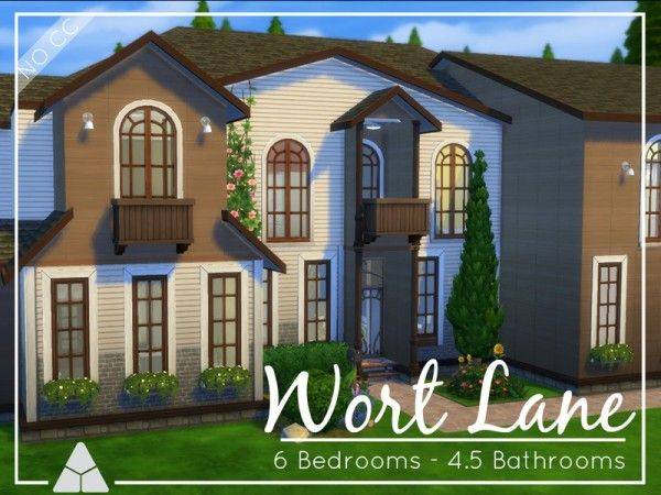 The Sims Resource: Wort Lane house by ProbNutt • Sims 4 Downloads