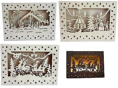 Led holzbild leuchtend schwibbogen weihnachten - Weihnachtsbilder basteln ...