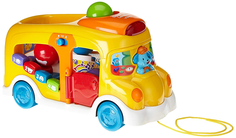 Vtech Baby 80 112804 Spiel Und Lernbus Bunter Schulbus Zum Schieben Und Sortieren 2 Sp Spielzeug Fur Kleinkinder Geschenke Fur Kinder Geschenkideen Kinder