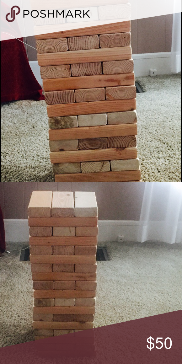 Adult size jenga 2x4 wood beeswax stained Adult size Jenga Lowes