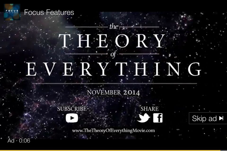 So excited for this movie about Stephen Hawkins. ❤️ physics.