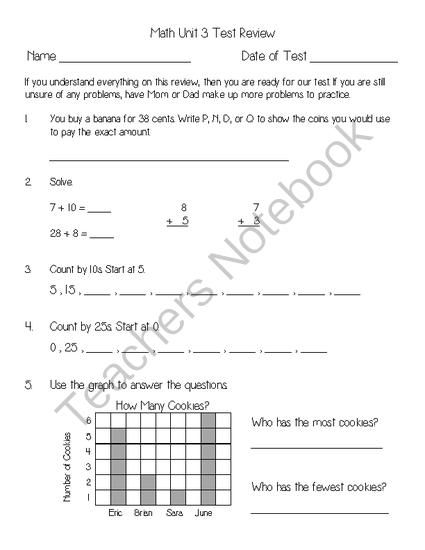 Everyday Math Unit 3 Review From Second Grade Superstars On Teachersnotebook Com 3 Pages Everyday Math Math The Unit