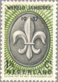 Postzegel van de wereldjamboree 1937 in Vogelenzang