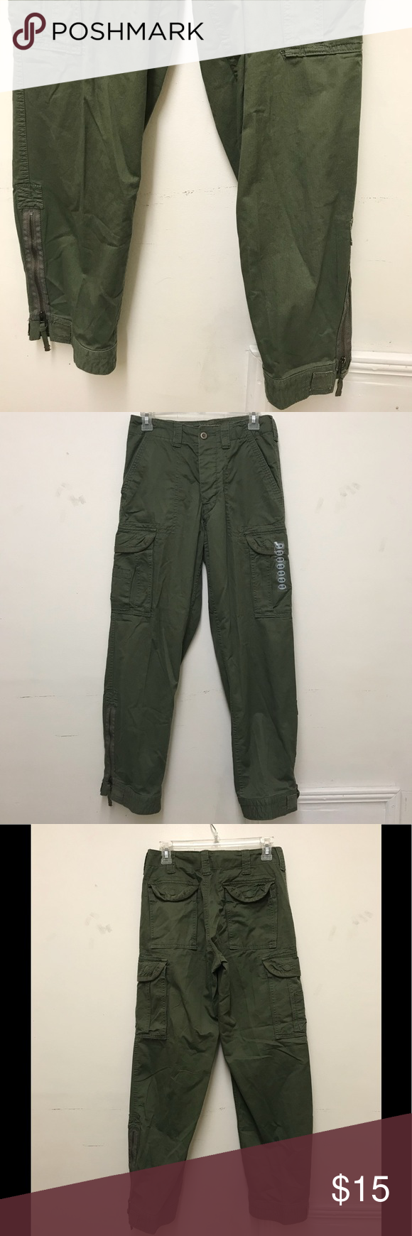 a854396187 28 x 30. Button fly. 6 pockets. Adjustable leg flare with zipper. New with  out tags. Austin Clothing Co. Pants Cargo