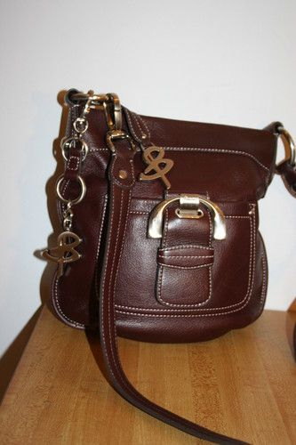 Stunning B Makowsky Deep Brown Soft Leather Crossbody Handbag Purse W Key Ring Ebay