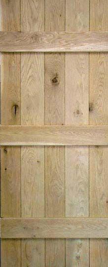 LPD Internal Nostalgia Rustic Solid Oak Ledged Door