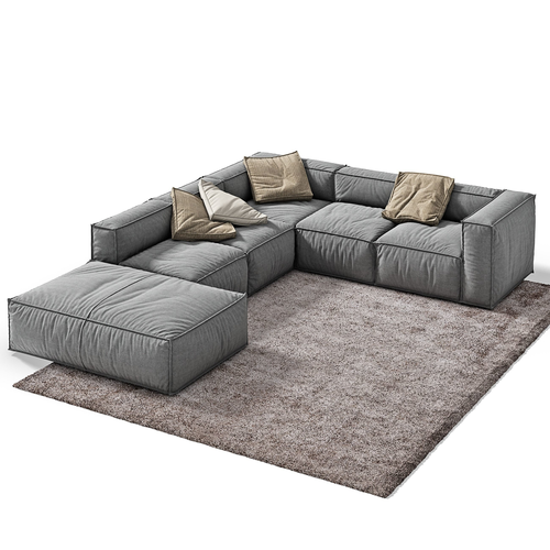 Bonaldo Peanut B 2 3d Model Sofa In 2019 Furniture