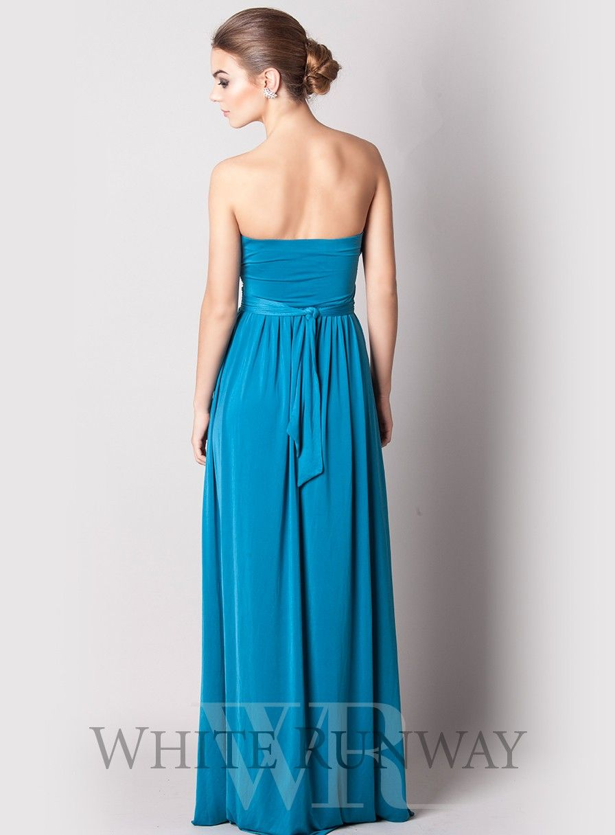 Alba Strapless Jersey Dress. Strapless jersey dress with a very ...