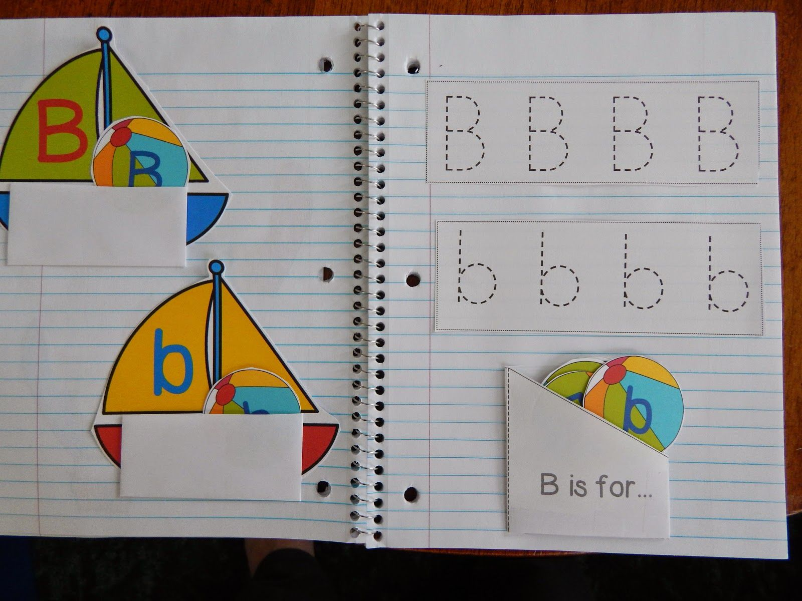 Living Worldsapart Letter B Interactive Notebook Pages