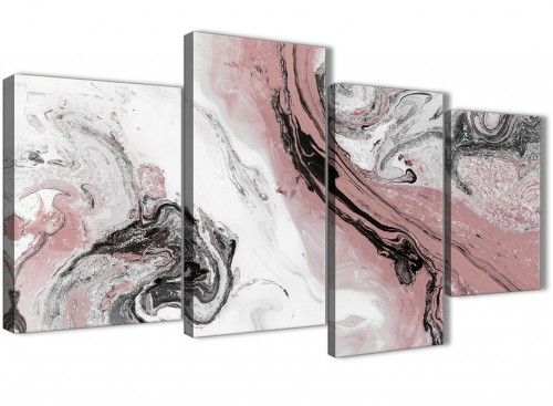 Best Large Blush Pink And Grey Swirl Abstract Bedroom Canvas 400 x 300