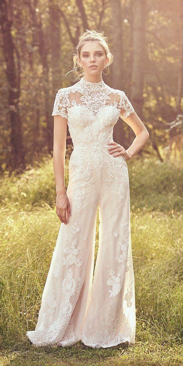 27 Wedding Pantsuit & Jumpsuit Trendy Ideas | Wedding Forward