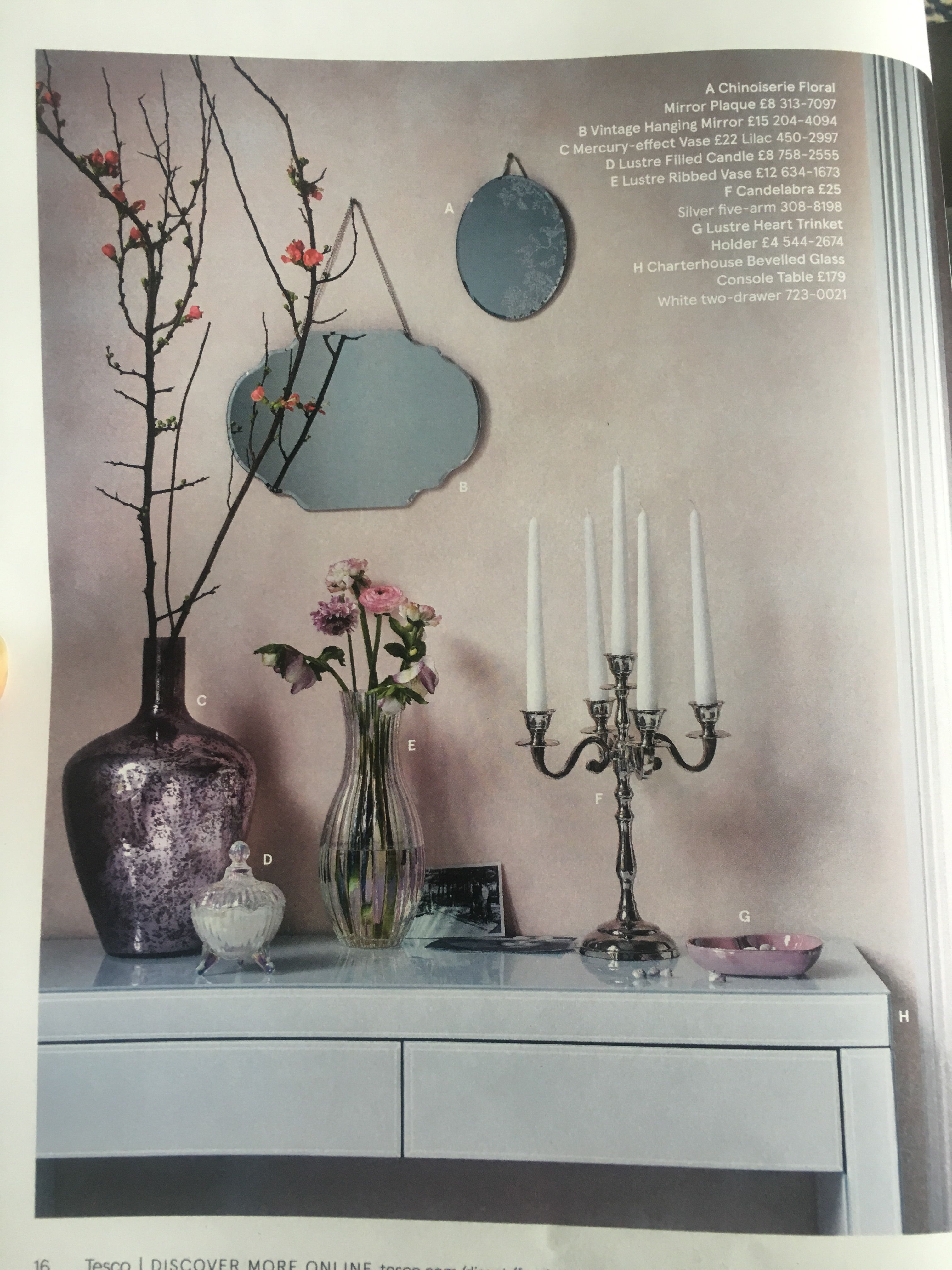 flowers in vase by fox ivy at tesco decorative. Black Bedroom Furniture Sets. Home Design Ideas