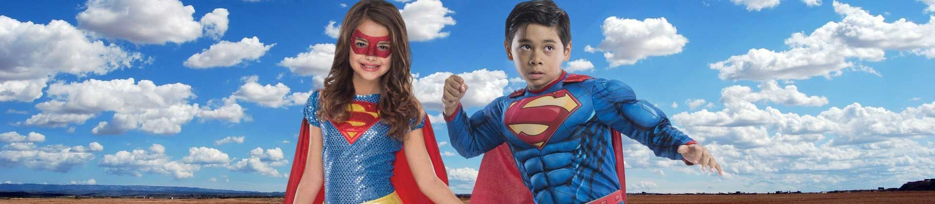 Although superheroes' looks change throughout the years, a cape will always be the classic addition to complete any heroic transformation. Once your little superhero boy or girl puts on a cape, stage a cute photo-op with the help of a standing fan and a stool or stepladder. Turn the fan on to create some wind and have your superheo kid strike a classic flying pose while lying across the stool or stepladder.
