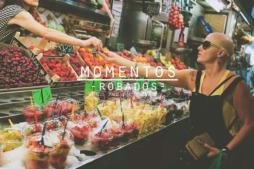 Mercat de la boqueria, Las Ramblas, Barcelona. food, fruit, woman, people. by Jenn Ros photography