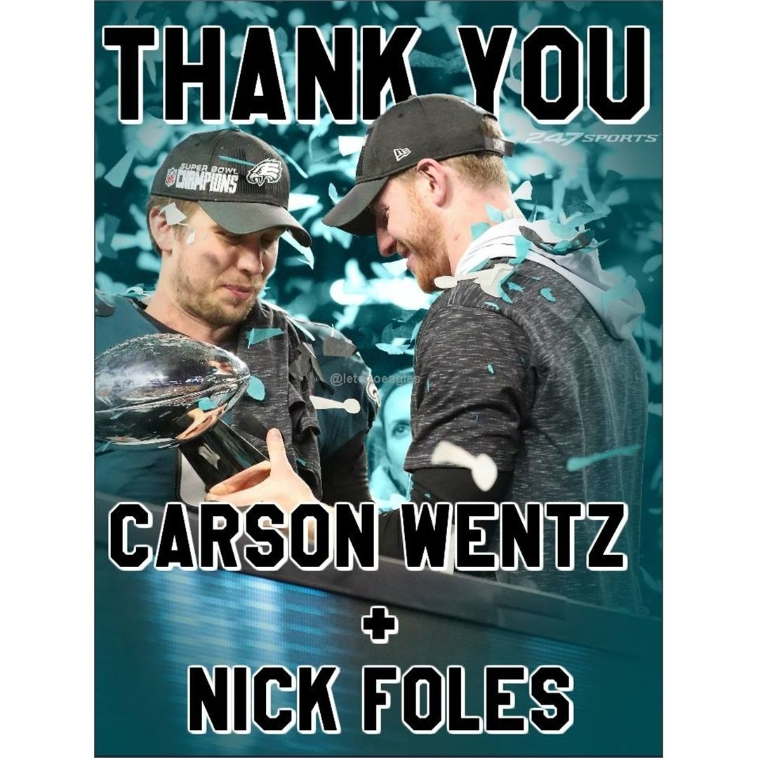 From Philadelphia Eagles fans everywhere... THANK YOU to the two greatest QBs in the league!!! #eaglesnation #eagles4life #eagleswin #eaglesquare #eaglesmma #eaglesnews #philadelphiaeaglesjerseys #eaglesfans #goeagles #philadelphiaeaglesnation #eaglesforlife #eaglesallday #eaglesteam #philadelphiaeagles #eaglestreet #eagles #eaglespride #eaglesmere #eaglesfan