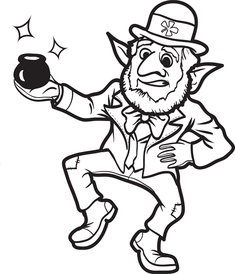 Leprechaun Coloring Page 9 Coloring Pages Leprechaun Coloring Pages For Kids