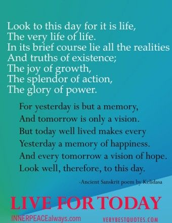 new year poems and quotes live for today quote poem best quotes inspirational quotes about