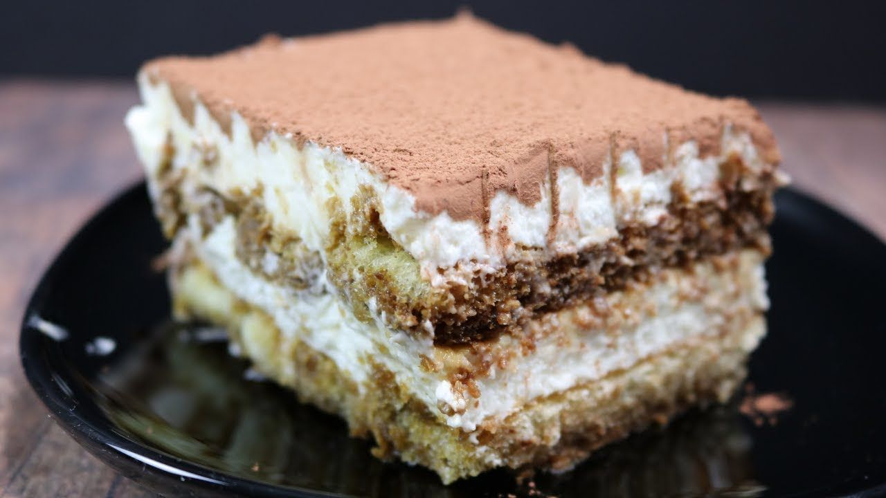 Tiramisu No Eggs No Mascarpone Cheese Youtube Dessert