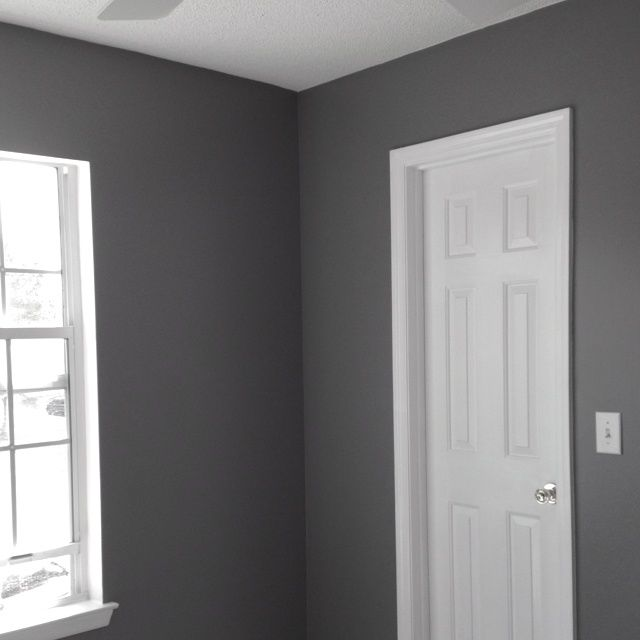 Glidden Seal Grey Color Matched To Behr Paint With Images
