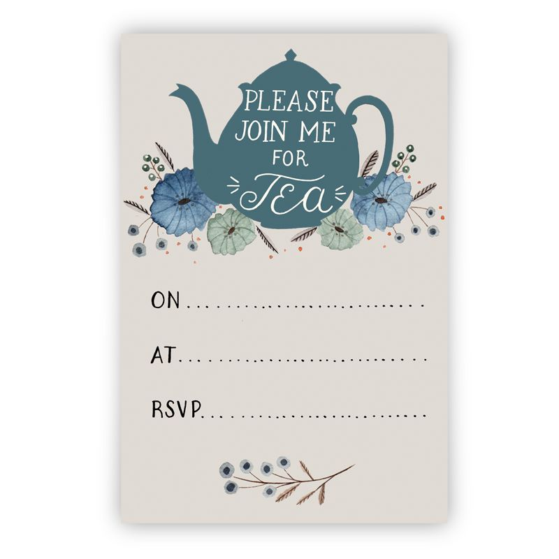 Tea Party Invitation Printable Instant Download Pdf  Tea Party