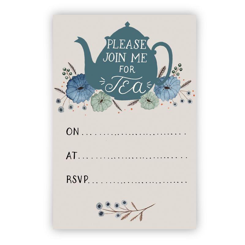 Süße Gutscheine, die unsere Gäste verschenken können: Tea Party Invitation printable download
