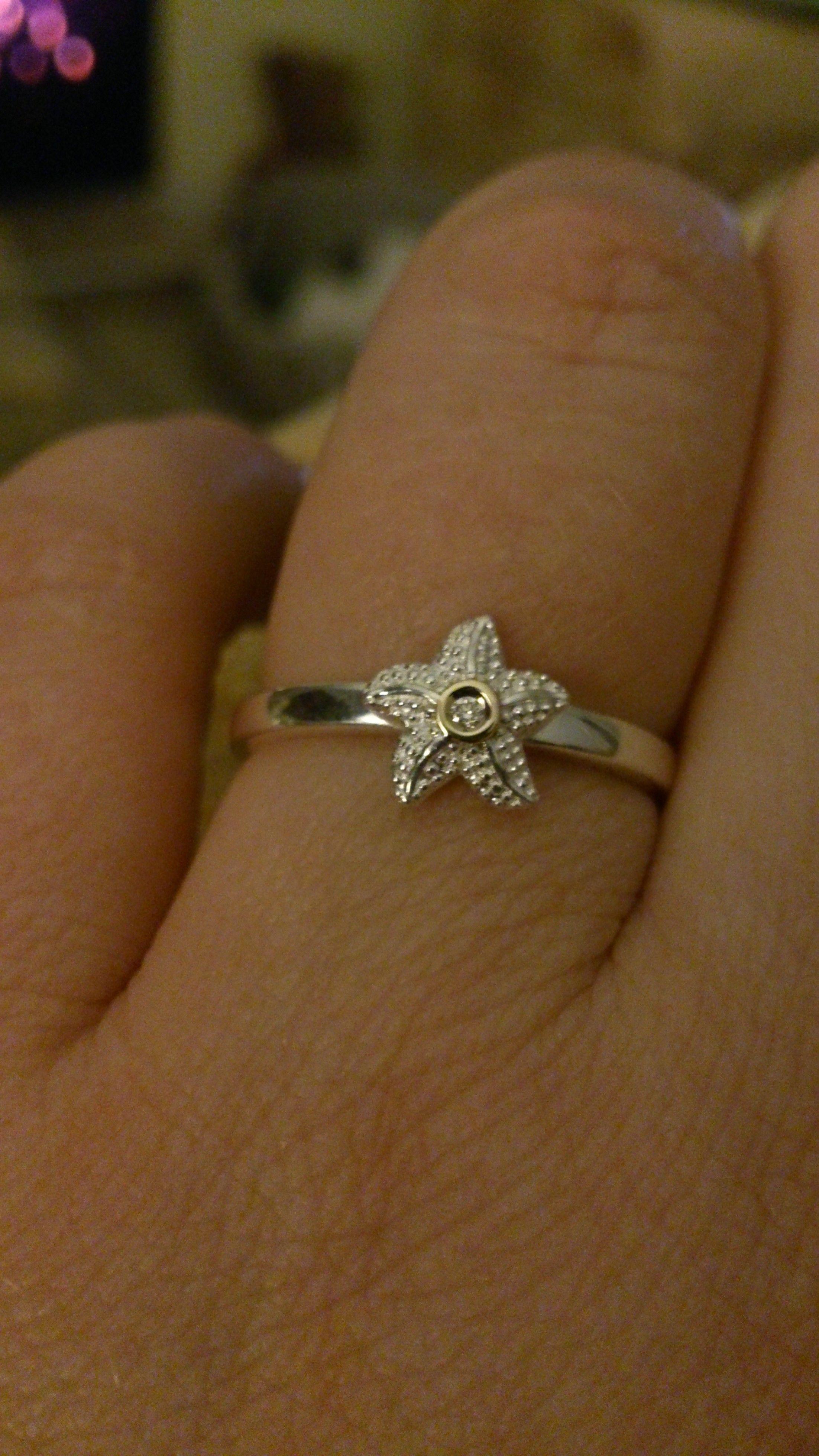 Engagement ring diamond starfish Engagement rings Pinterest
