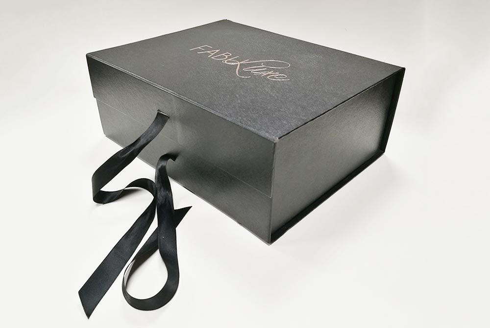 Black Collapsible Gift Boxes Folding Packaging For Sale Rigid Gift