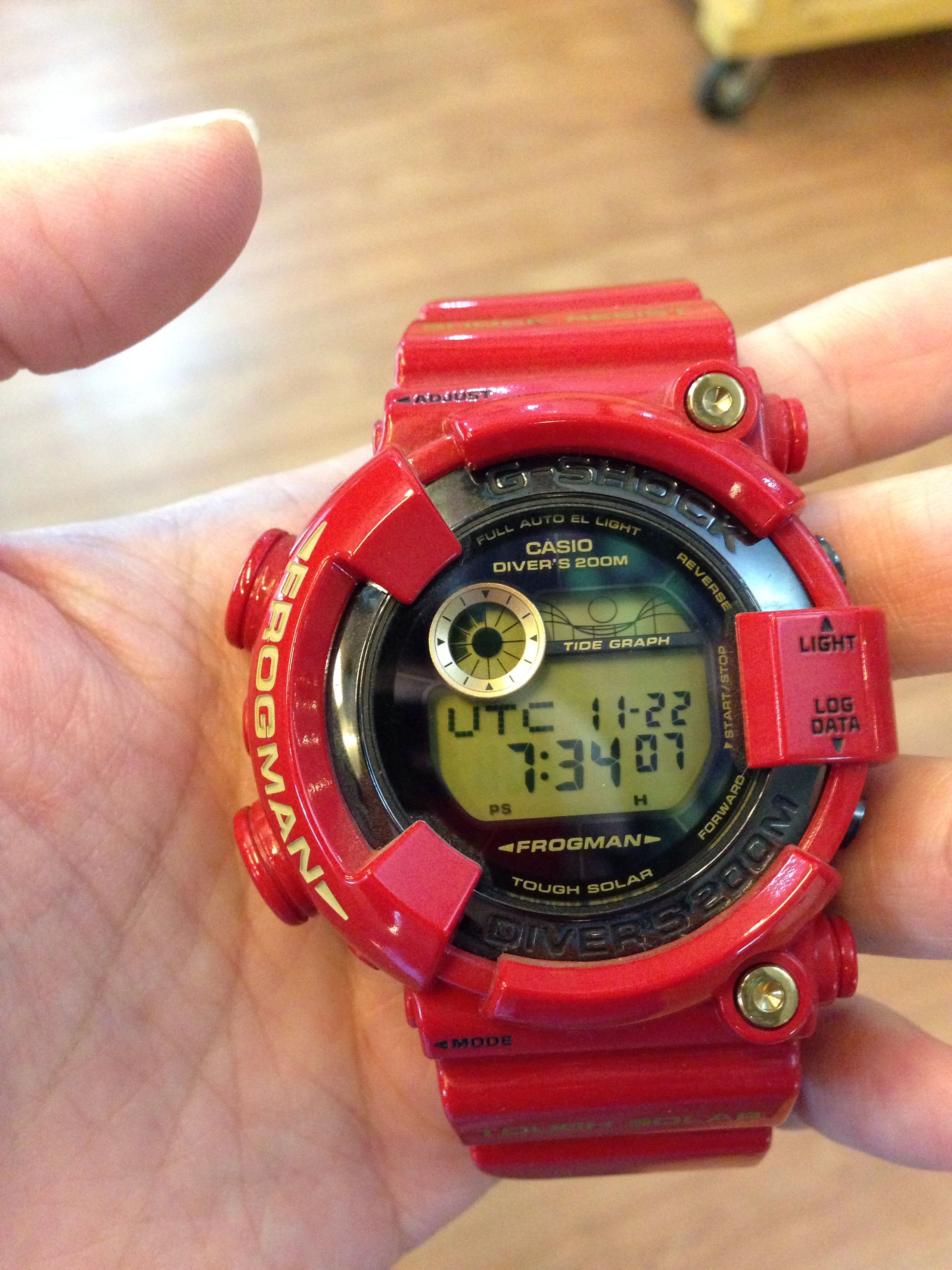 492f25d708e Casio g-shock  frogman  GF8230A rising red limited edition 30th anniversary