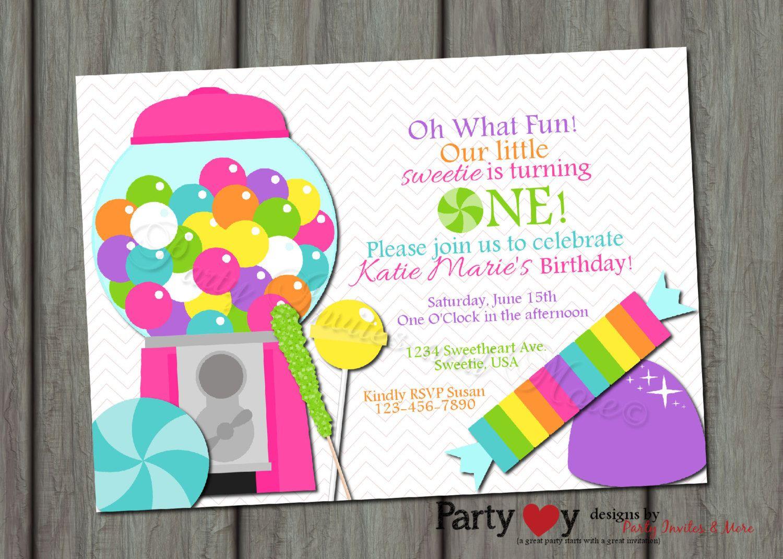 Candy Shop Birthday Invitation, Sweet Shop Birthday Invitation ...