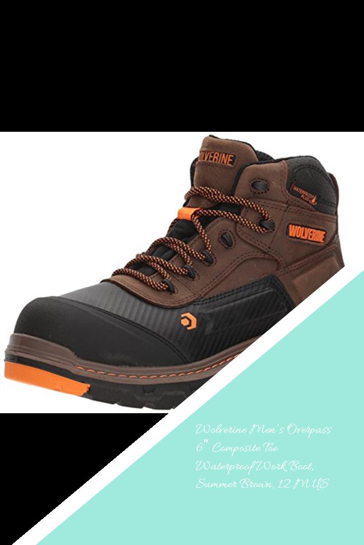 a03591d0773 Wolverine Men's Overpass 6″ Composite Toe Waterproof Work Boot ...