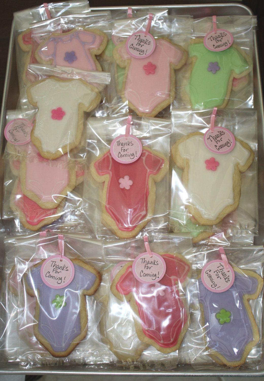 Baby Girl Onsie Sugar Cookie Party Favors. $24.00, via Etsy.