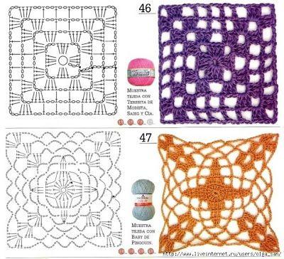Crochet square cuadrados con patrones gratis todo - Aplicaciones a ganchillo ...