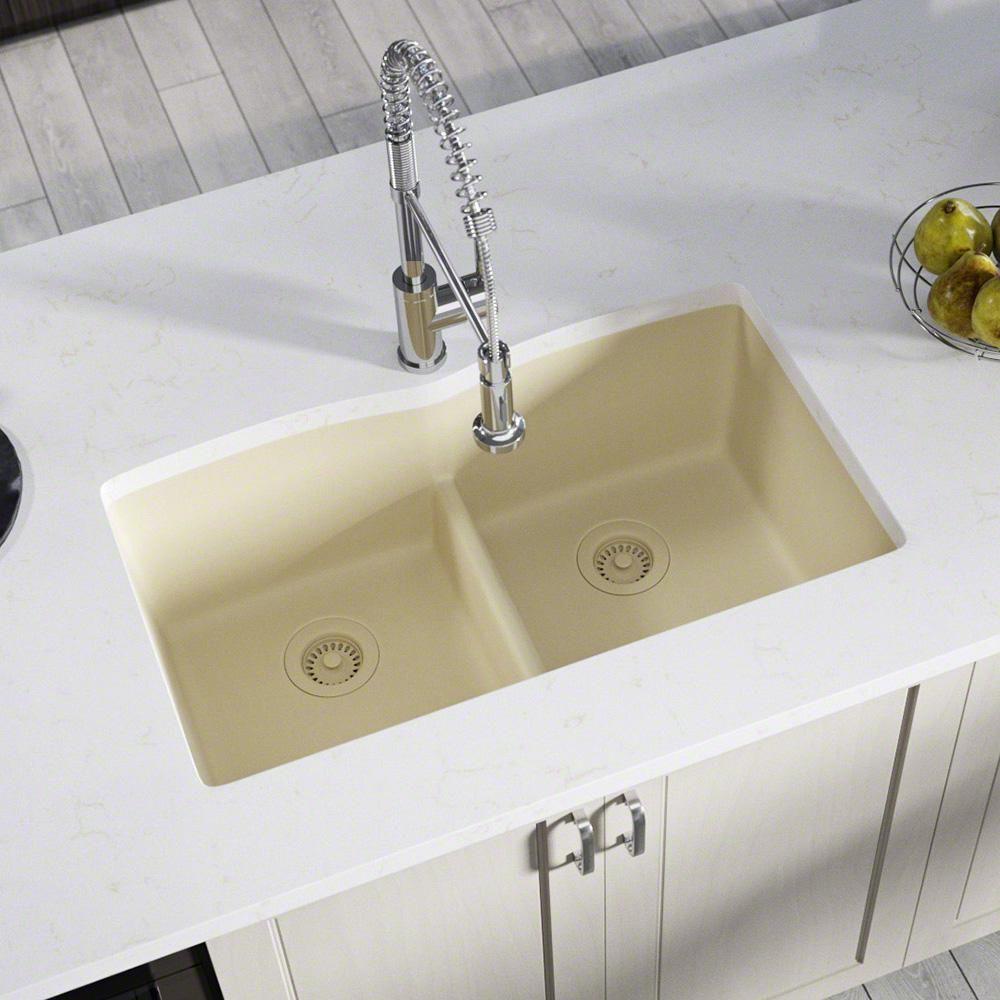 Mr Direct All In One Undermount Kitchen Sink Composite Granite 33