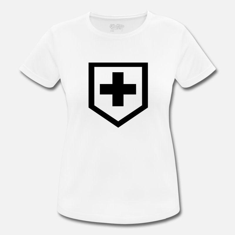 Tshirtdruck Schwarz Kreuz Icon Symbol Form Muster Frauen T