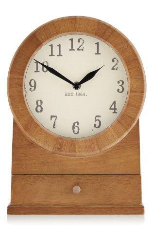 Rustic wooden mantel clocks