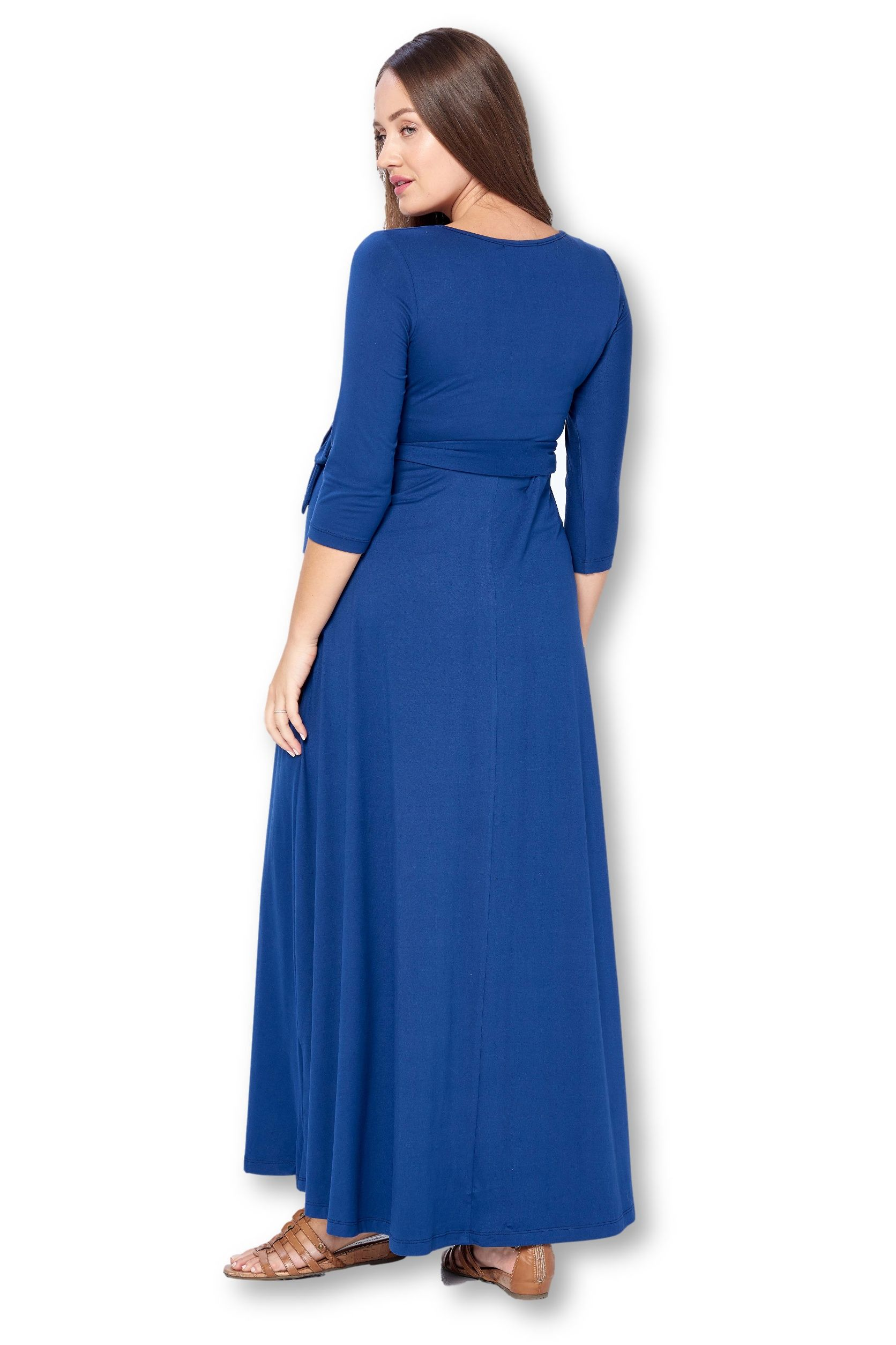 Star Motherhood Women S 3 4 Sleeve Wrapped Ruched Maternity Dress S 3xl Made In Usa Walmart Com Maxi Wrap Dress Womens Dresses Maxi Dress [ 2509 x 1672 Pixel ]