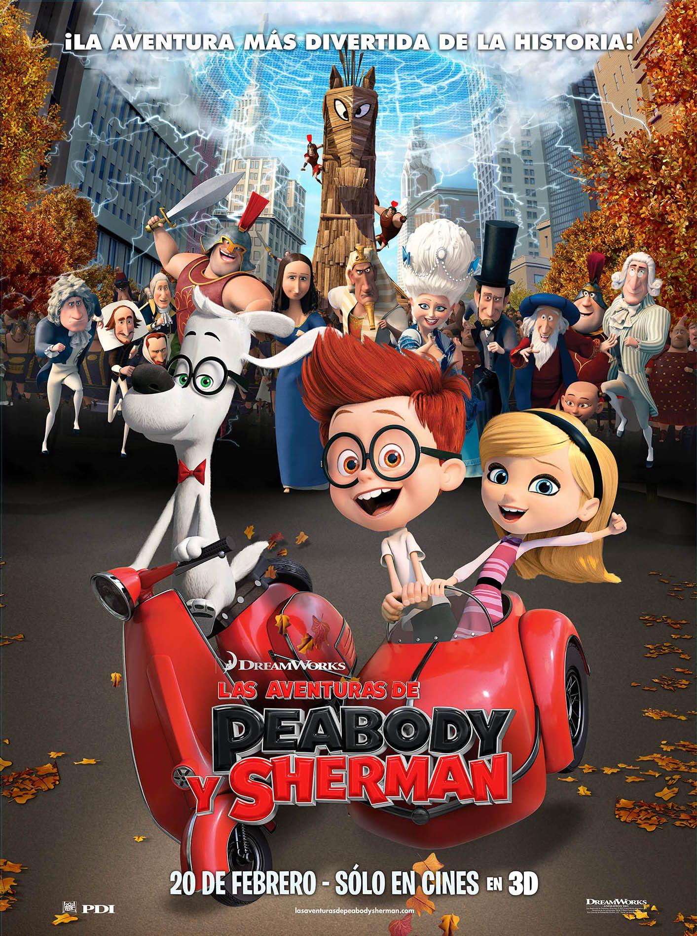 Las Aventuras De Peabody Y Sherman Las Aventuras De Peabody Y Sherman Peliculas Infantiles De Disney Peliculas Clasicas De Disney