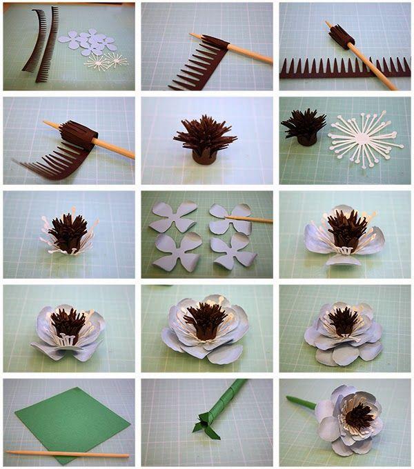 Fiori 3d Di Carta.More 3d Paper Flowers Fiori Di Carta Fiori Di Feltro Fiori