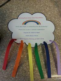 Rainbow party invite!!