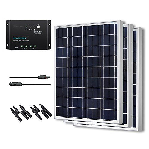 Renogy 300 Watts 12 Volts Polycrystalline Solar Bundle Kit Click Image To Review More Details Note I Solar Power Kits 12v Solar Panel Off Grid Solar Power