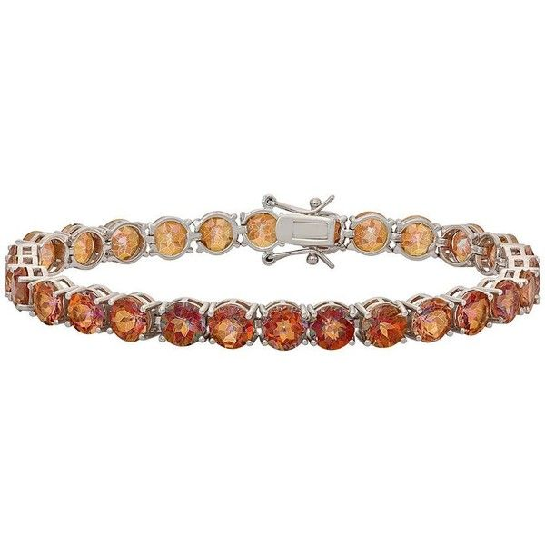 Kohl S Orange Mystic Fire Topaz Sterling Silver Bracelet 5 715 Php