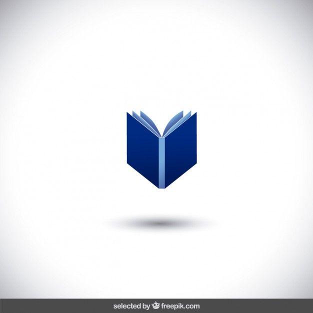 Livre Bleu Isole Logoslivres Vecteur Gratuit Vecteur Et