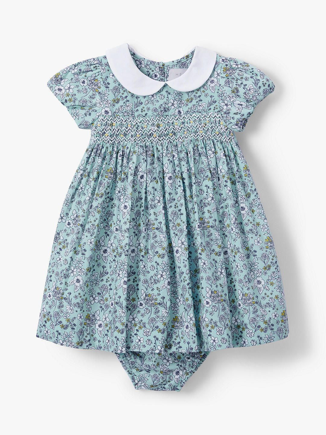 94d2b7b9a BuyJohn Lewis & Partners Heirloom Collection Ditsy Floral Dress and  Knickers Set, Blue, 18-24 months Online at johnlewis.com