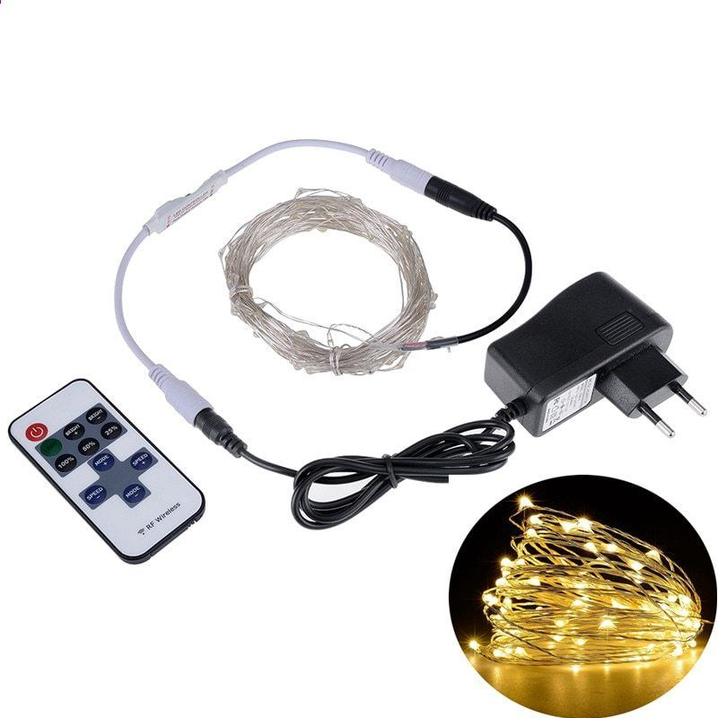 Led Lichtslingers 5m10m Outdoor Christmas Fairy Lights Warm Witte Zilveren Draad Led Sterrennacht V Holiday Lights Outdoor Christmas Fairy Lights Starry Lights