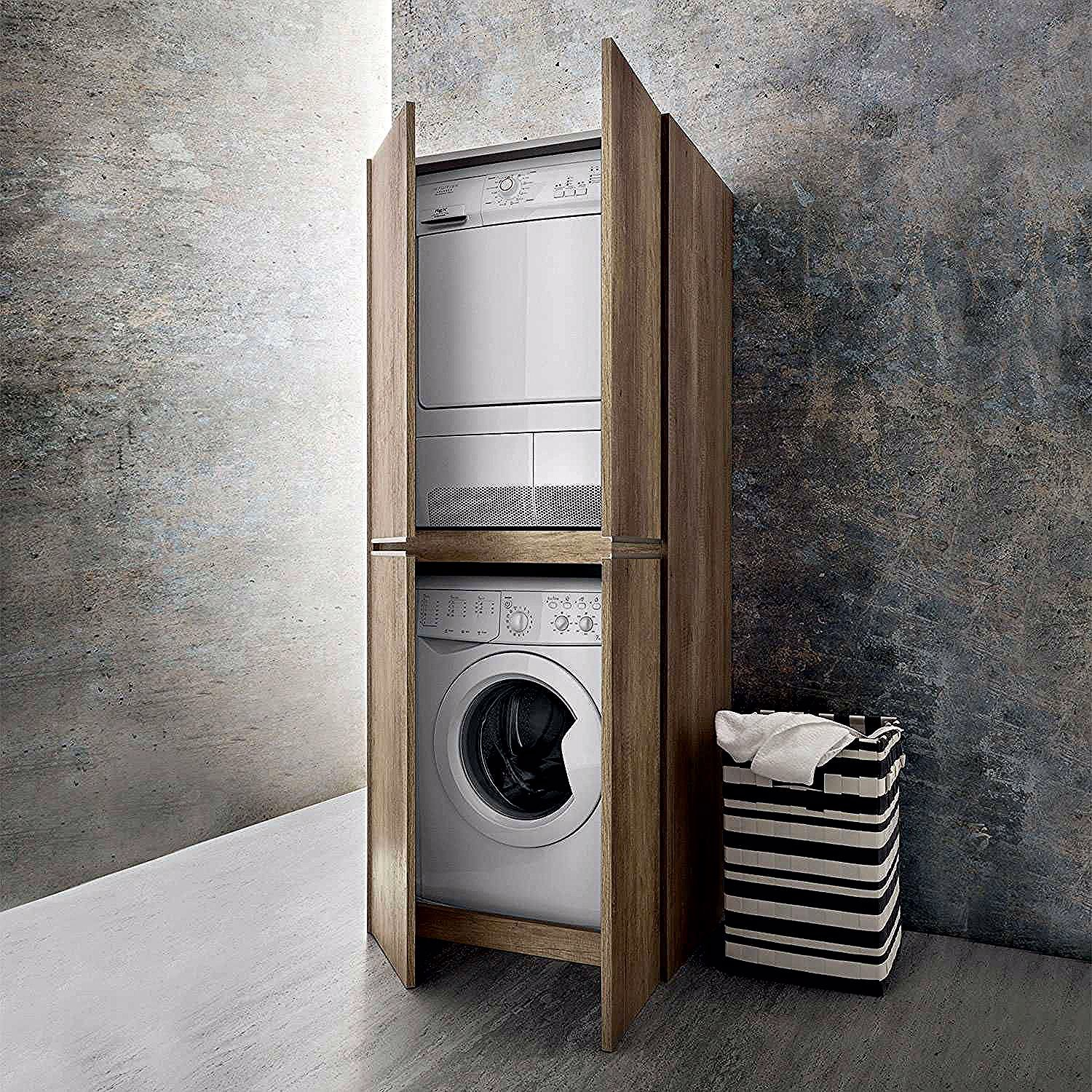 Armoires De Machine A Laver In 2020 Laundry Cupboard Small