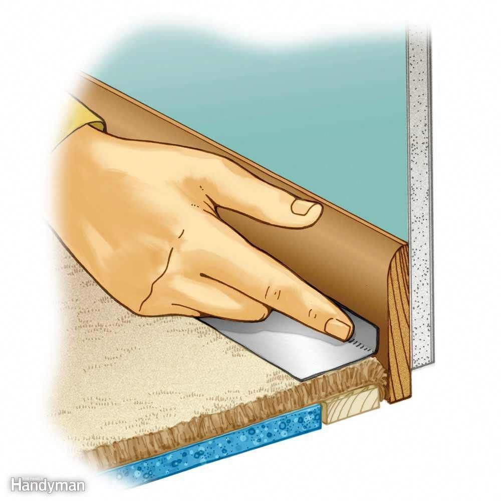 Don T Paint The Carpet Use Painter S Tape And Roll It Around And Down Into The Edge Of The Carpet Let Paint D Painting Trim Painting Tips Painting Baseboards