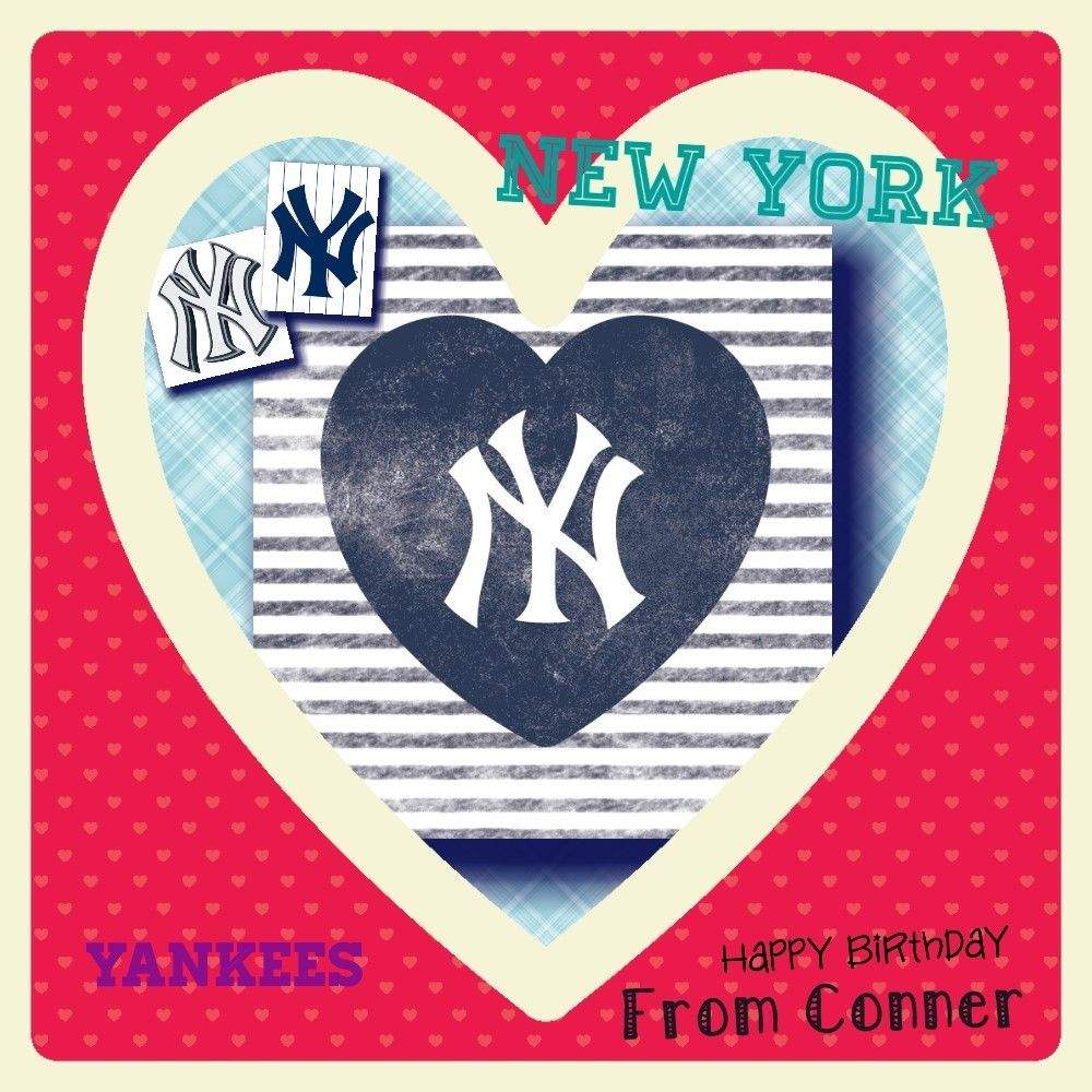 Custom Birthday NY Yankee Logo Design Sports logo design