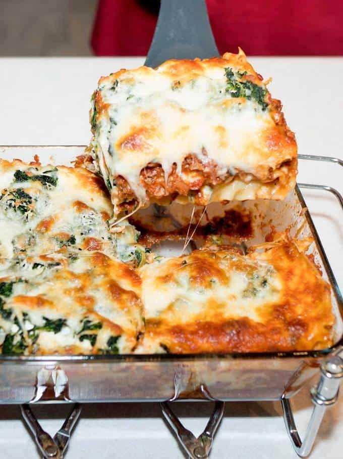 spinach and mushroom lasagna  recipe  stuffed mushrooms